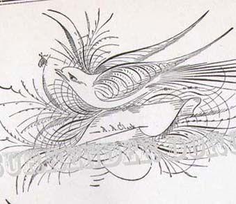 339x294 Bird Flourishes Advance Victorian Calligraphy 1886 Victorian