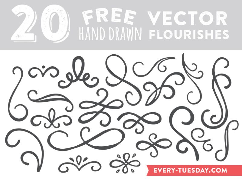 800x600 Download Free Hand Drawn Vector Flourishes Fonts Amp Stuff