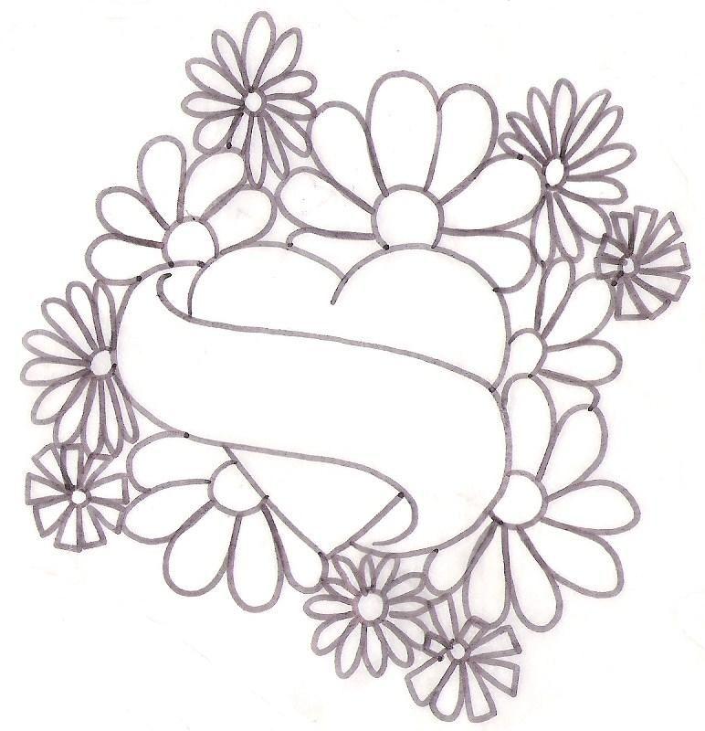 772x800 Floral Heart Tattoos Flower Tattoo Drawing Designs Tatoos