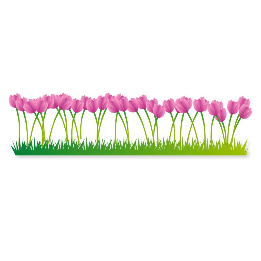900x900 Flower Bed Free Vector 123freevectors