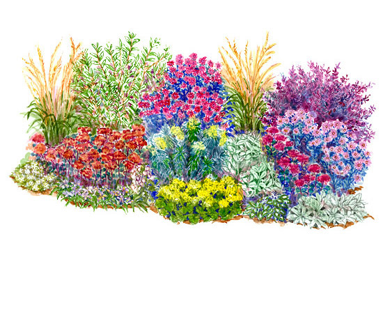 550x458 Amazing Flower Garden Layout Planner Garden Plans