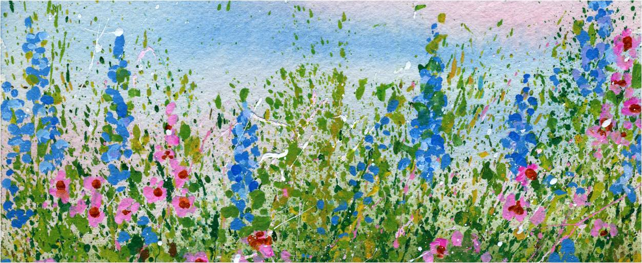 1252x514 Create A Splattered Paint Flower Garden