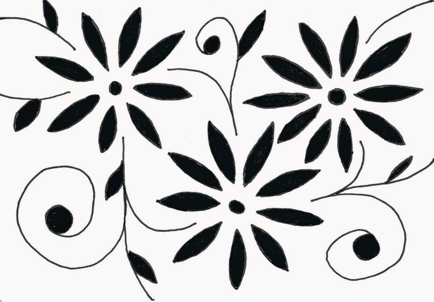 Flower black and white drawing at getdrawings free for 1436x1000 flower drawings in black and white many flowers mightylinksfo