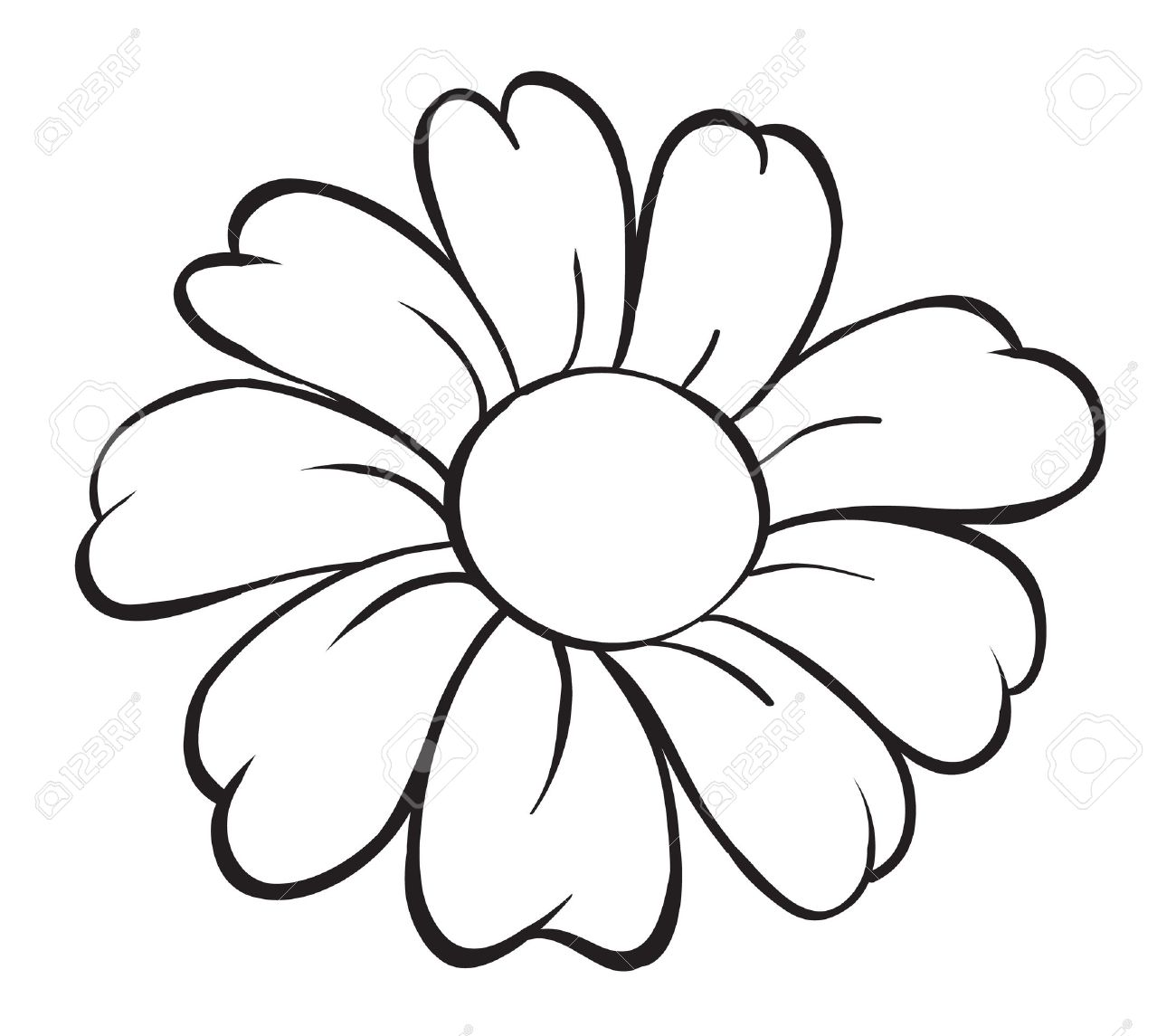 Flower black and white drawing at getdrawings free for 1300x1145 illustration of flower sketch on white background royalty free mightylinksfo