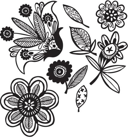 Black and white flower drawings geccetackletarts black mightylinksfo