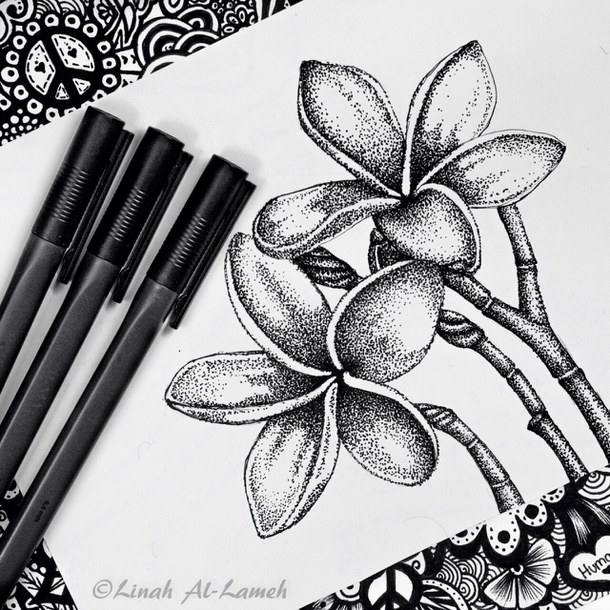 Flower black and white drawing at getdrawings free for 610x610 art black and white doodle drawing flower flowers mightylinksfo
