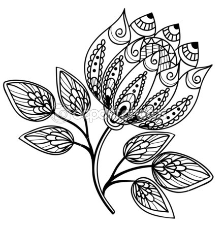 Flower black and white drawing at getdrawings free for 441x449 beautiful black and white flower hand drawing image transfer mightylinksfo