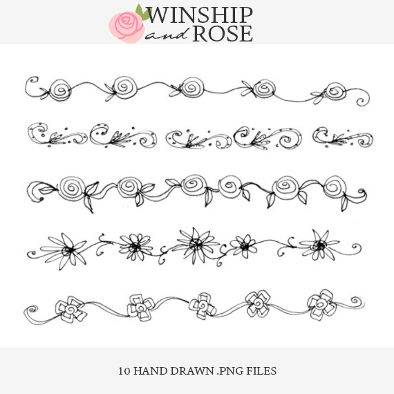 Line Drawing Flower Borders : Flower border drawing at getdrawings free for
