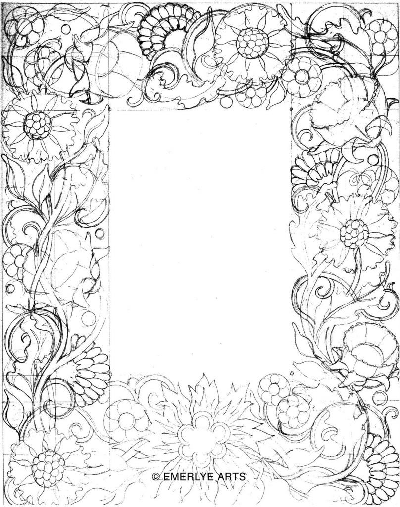 808x1024 Flower Border Drawing Designs Drawings The Best