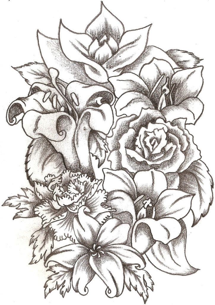 725x1024 flower bouquet drawing drawings of flower bouquets drawing artisan