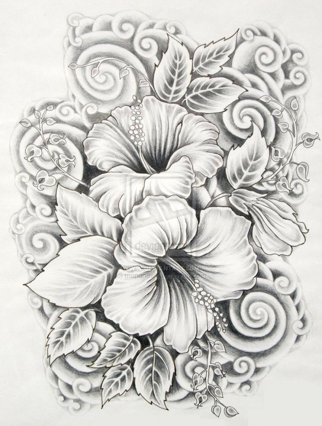 Flower Bouquets Drawing