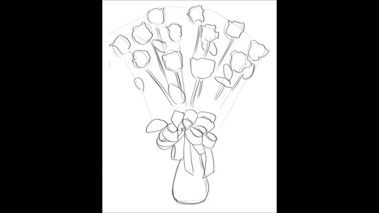 1280x720 How To Draw A Bouquet Of Flowers