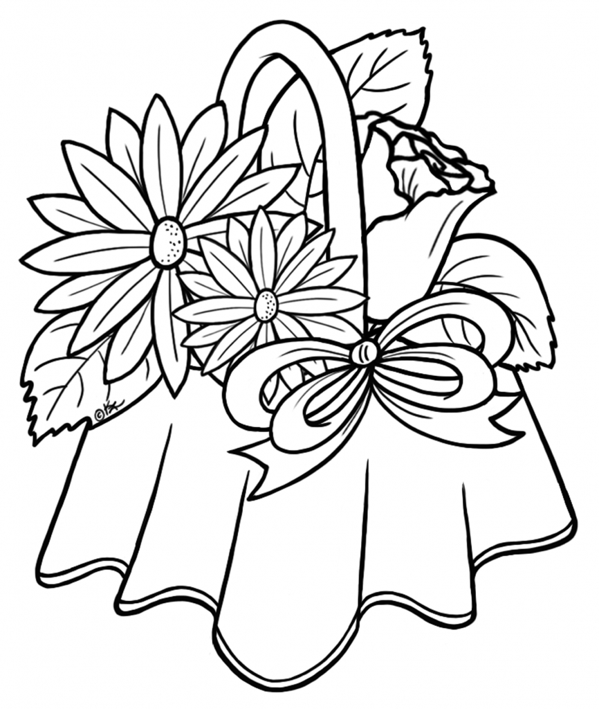 866x1024 Bouquet Of Flowers Drawing How To Draw Flower Bouquets Simple
