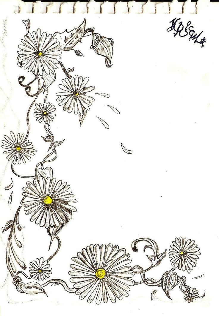 Flower Chain Drawing