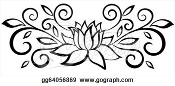 350x173 Black And White Flower Drawing Clipart Panda