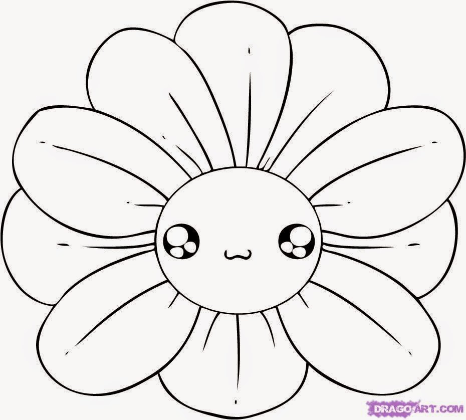 930x838 Flower Drawing