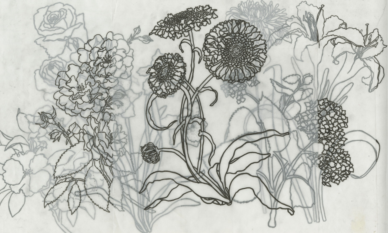 1280x771 Me Drawing Art Life Flowers Stuff Floral Collage Prints Scad