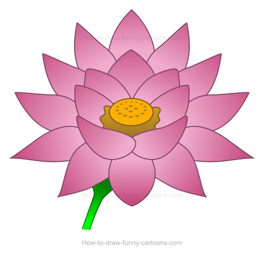 Flower color drawing at getdrawings free for personal use 520x504 to create a lotus flower drawing mightylinksfo
