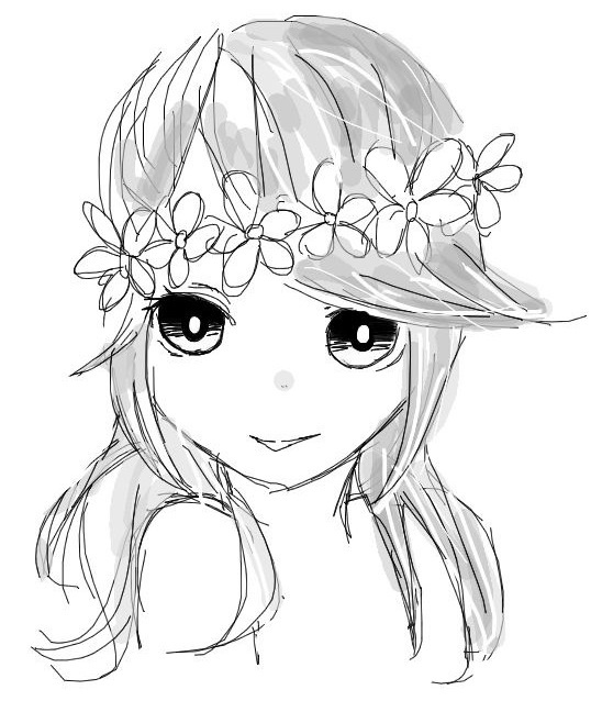 548x638 flower crown by pandashka on deviantart