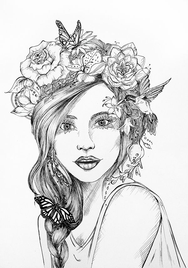 600x856 the 25 best flower crown drawing ideas on pinterest susan image