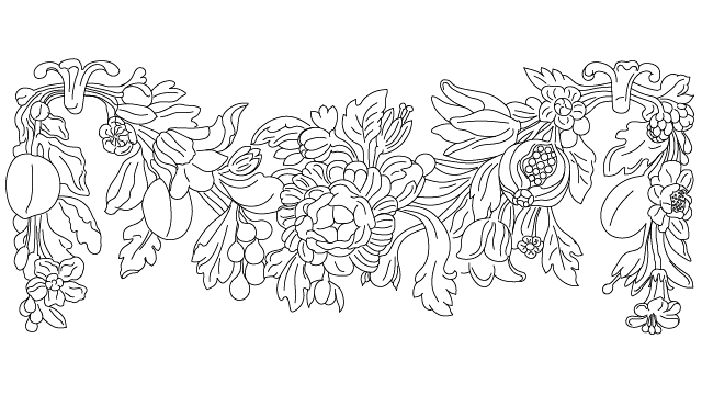 640x360 Antique Flower Plaster Decoration Block In Decorative Elements