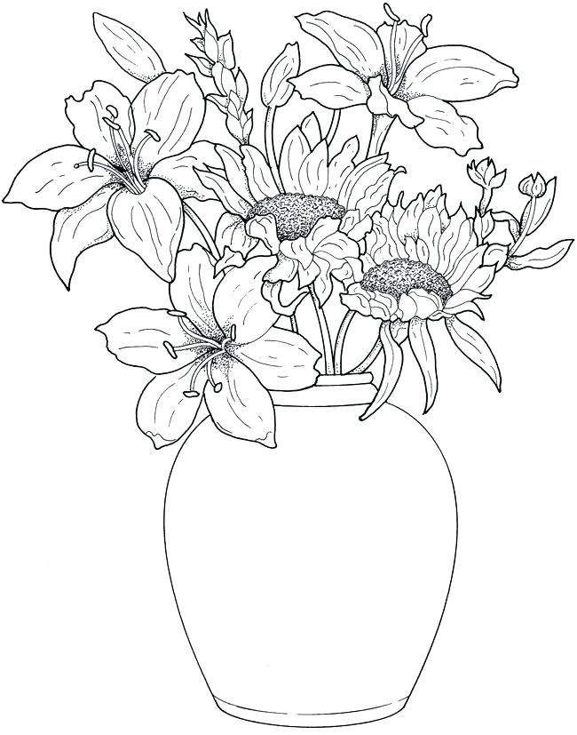 650x827 Coloring Pages Draw Easy Flowers Affan