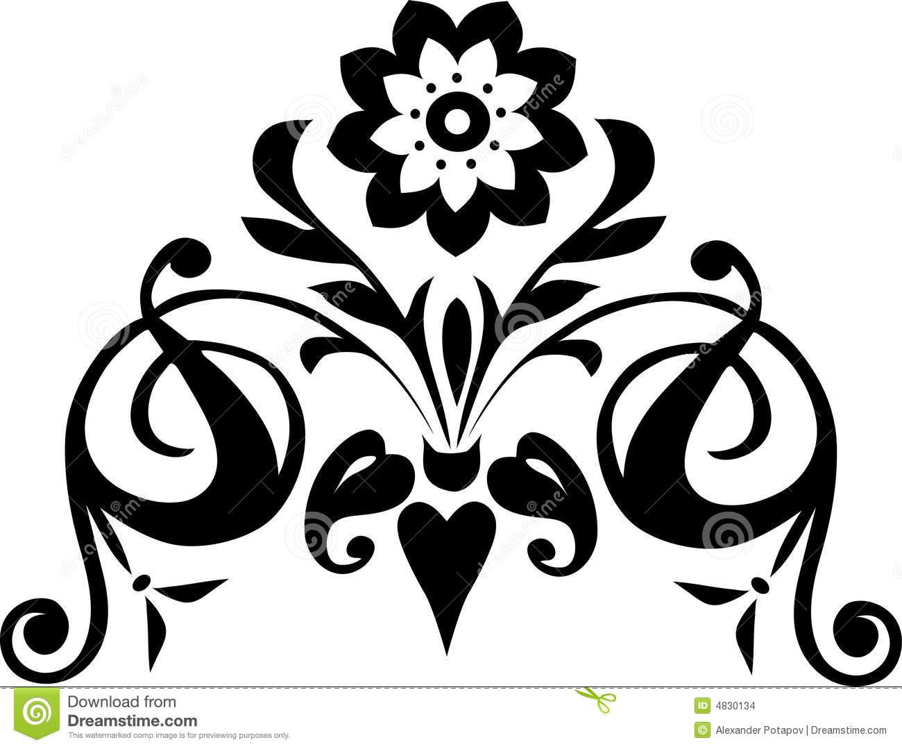 1300x1079 Black Flower 211 Desktop Wallpaper