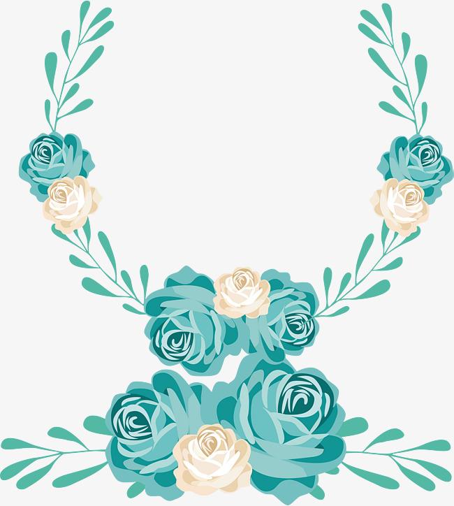 650x724 Cartoon Hand Painted Wedding Flower Door Decoration, Cartoon Hand