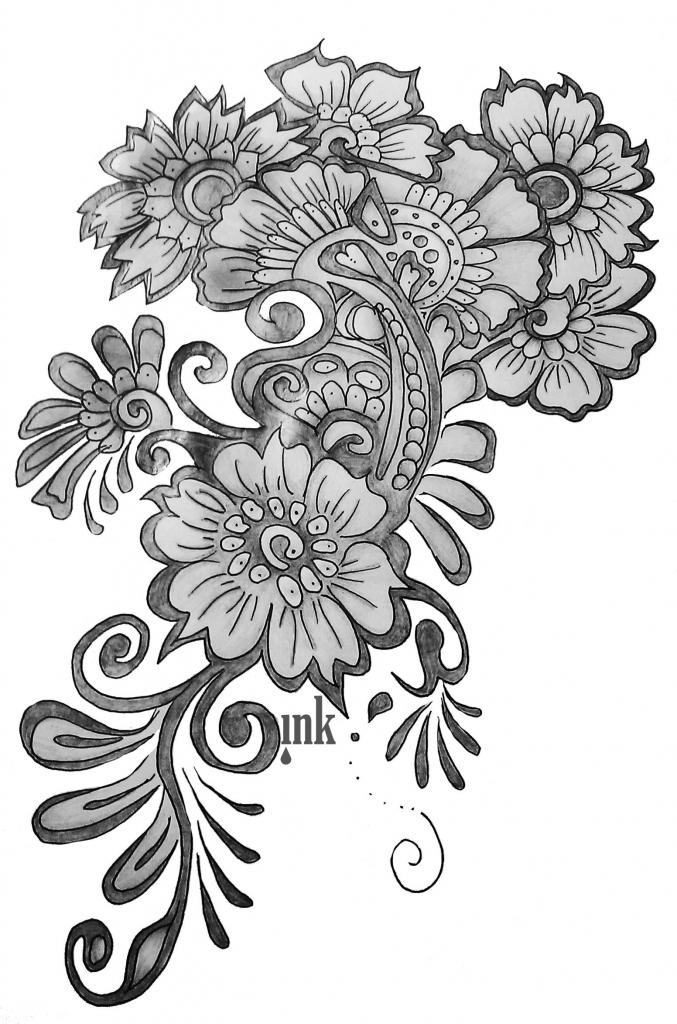 677x1024 Flowers Designs For Drawing Easy Flower Designs Drawings Flower