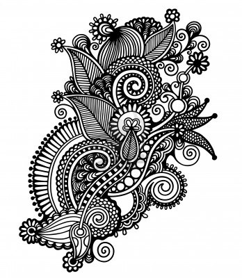 348x400 Coloring Pages Flower Drawing Designs Vine Tattoos Tattoo