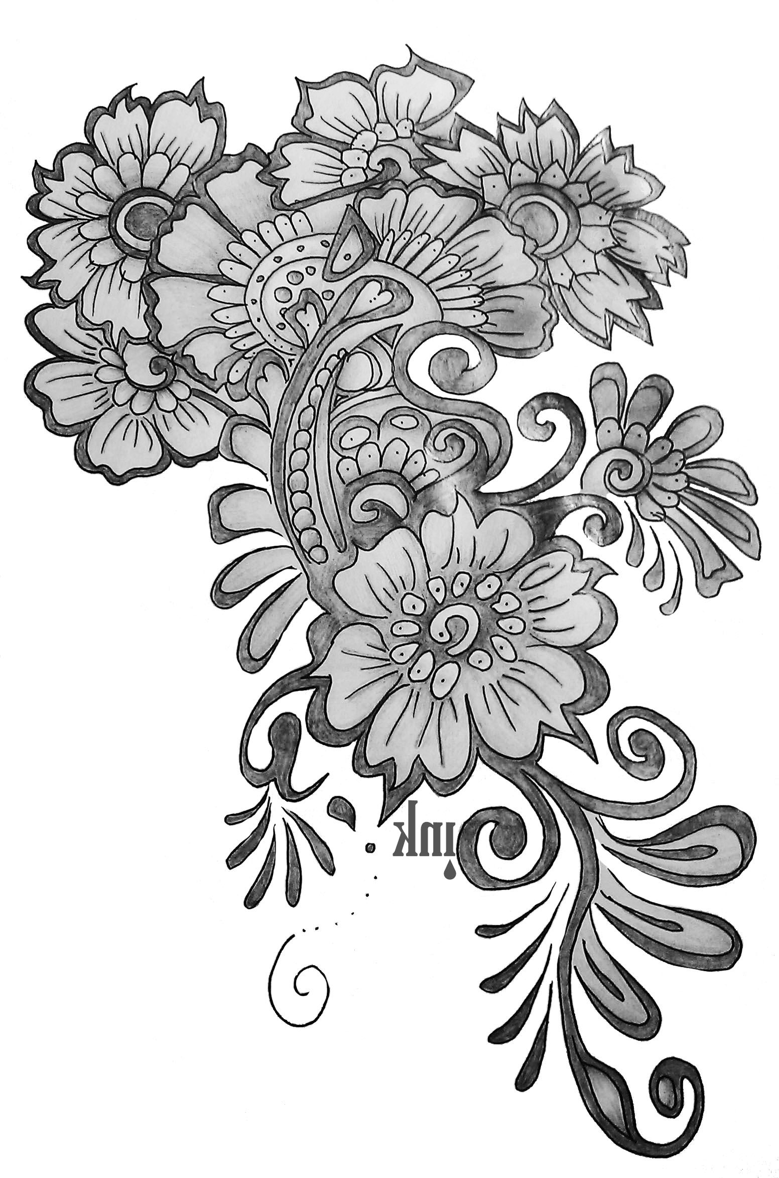 1552x2346 Simple Flower Designs For Pencil Drawing Pencil Sketch Of Flower