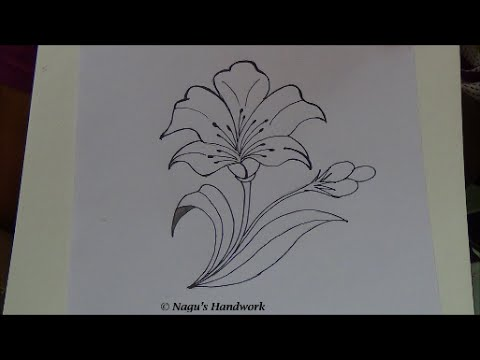 480x360 Flower Tutorial How To Draw Flower Design Simple Drawing By Nagu'S