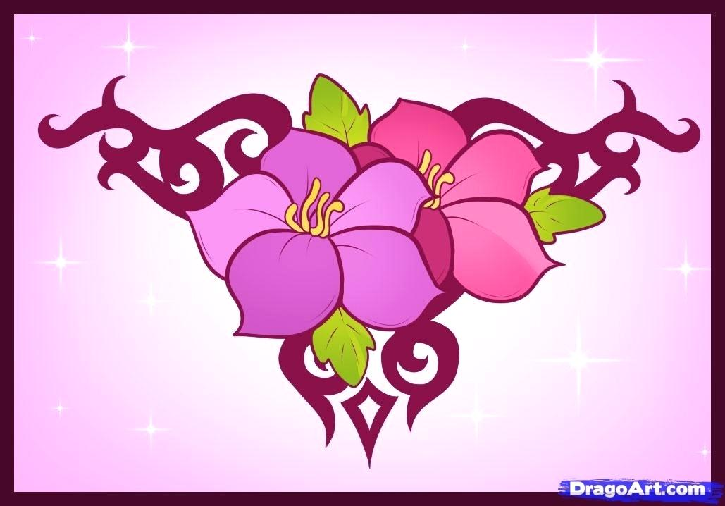 1029x718 Designs To Draw How To Draw Flower Designs Cool Drawing Designs