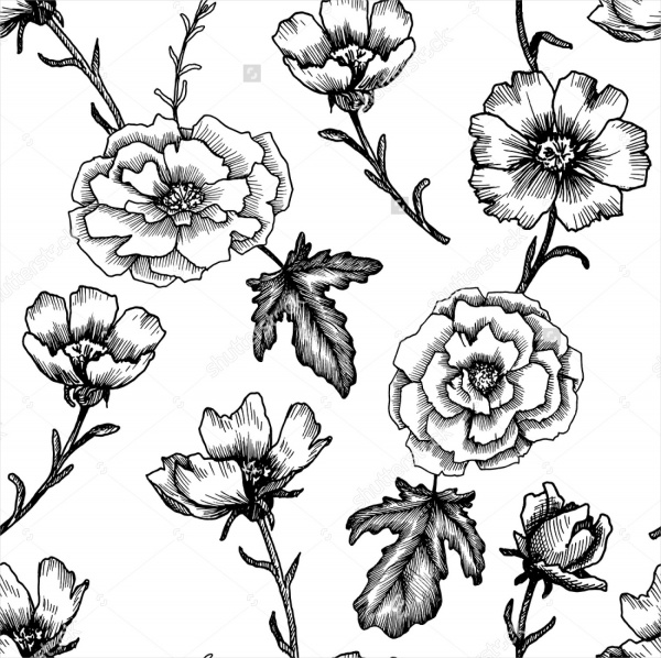 Flower Drawing Design