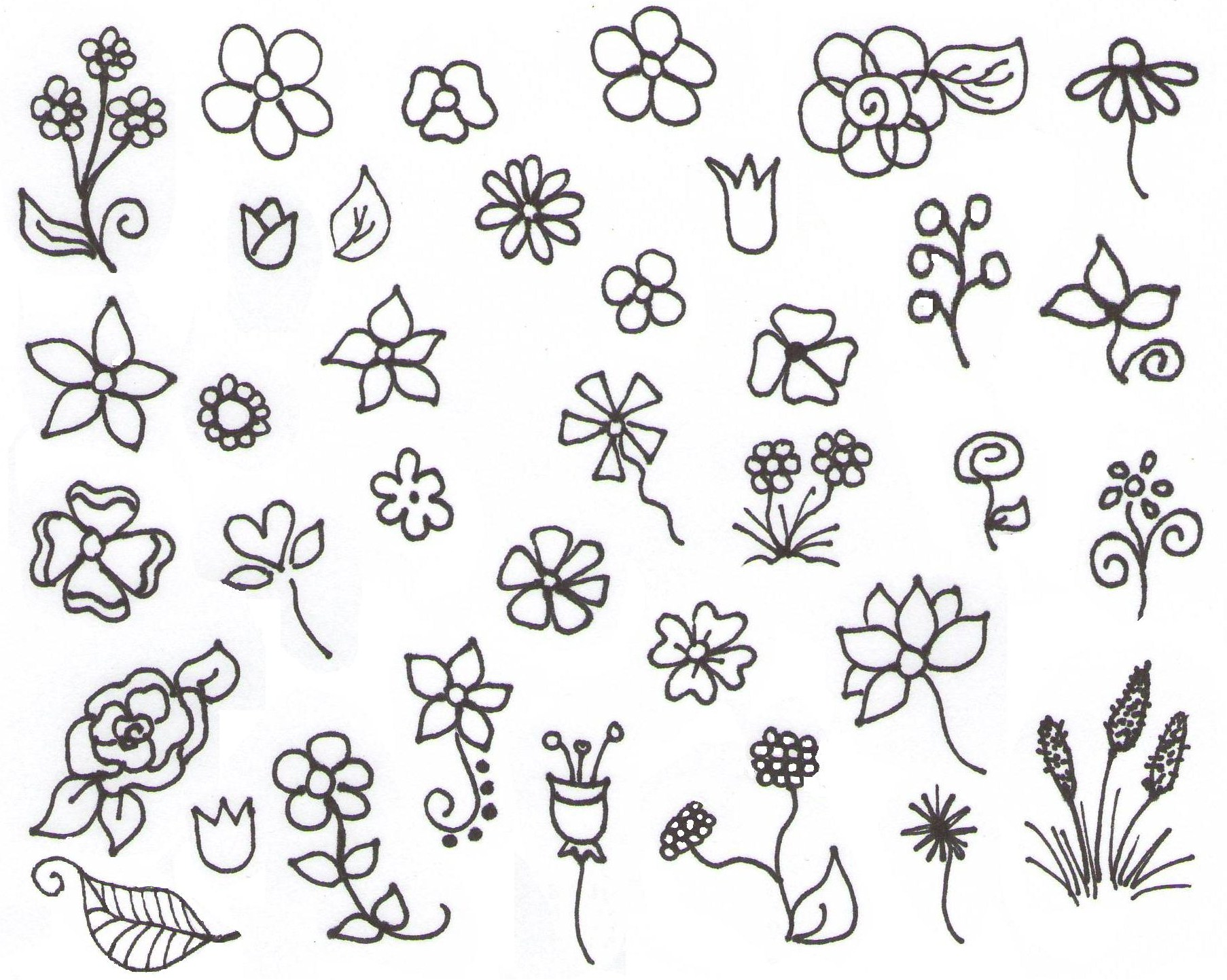 Flower Drawing For Beginners at GetDrawings | Free download
