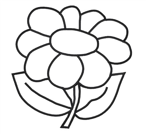 500x460 pictures outline of flower
