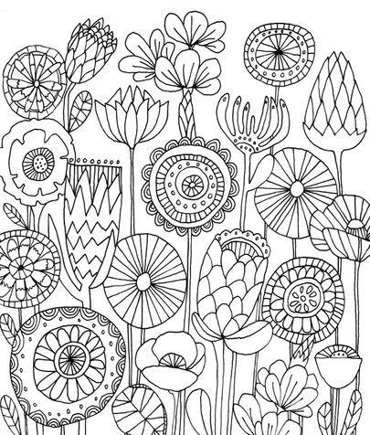 Flower Drawing Pattern