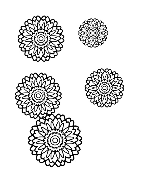 558x723 How To Create A Stress Relief Coloring Book Page In Adobe Illustrator