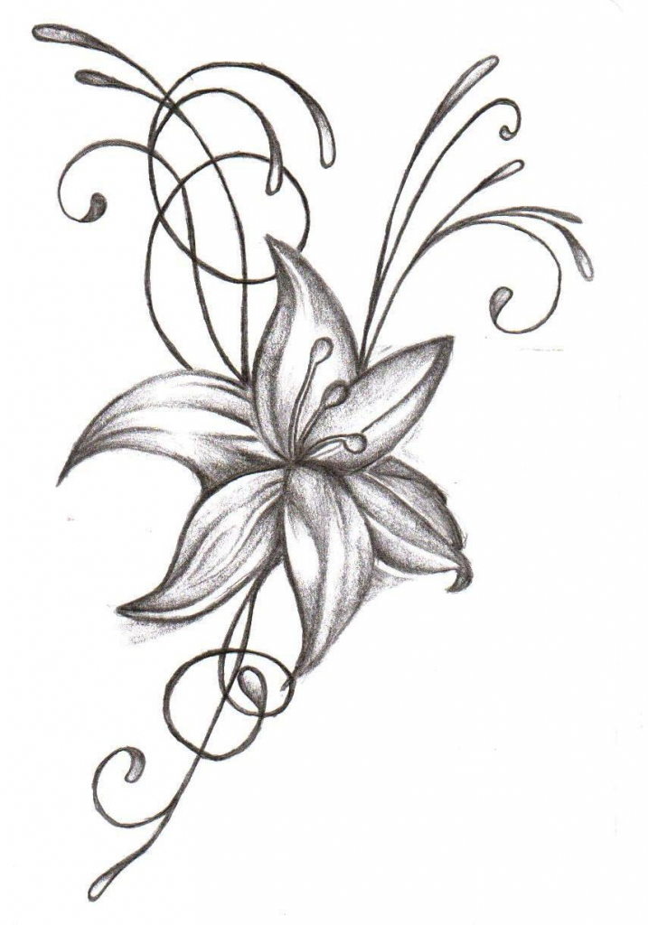 717x1024 Flowers Designs For Drawing 1000 Images About Flower Drawings