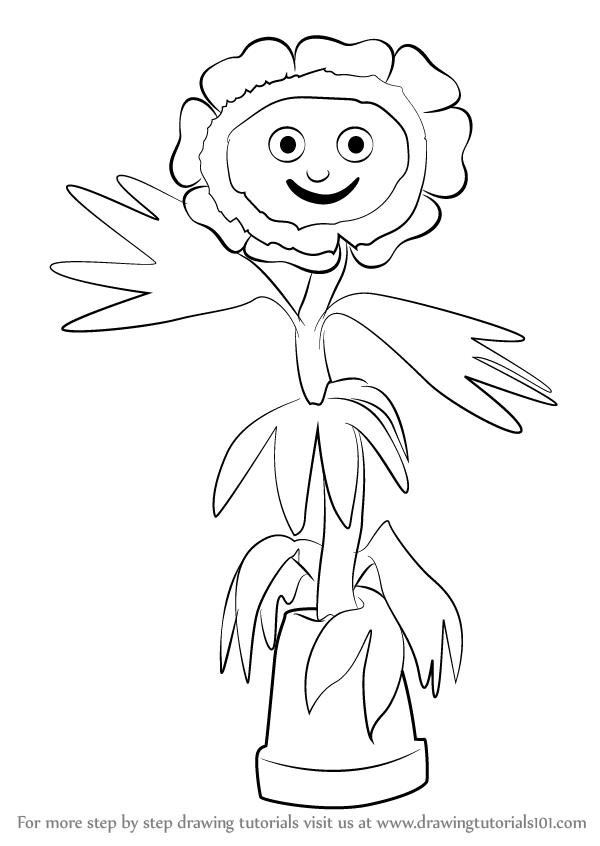 600x846 Learn How To Draw Little Weed From Flower Pot Men (Flower Pot Men
