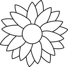 Flower Drawing Template