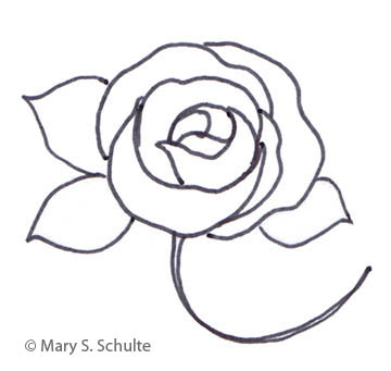 image regarding Printable Rose Template identify Flower Drawing Template at  Free of charge for