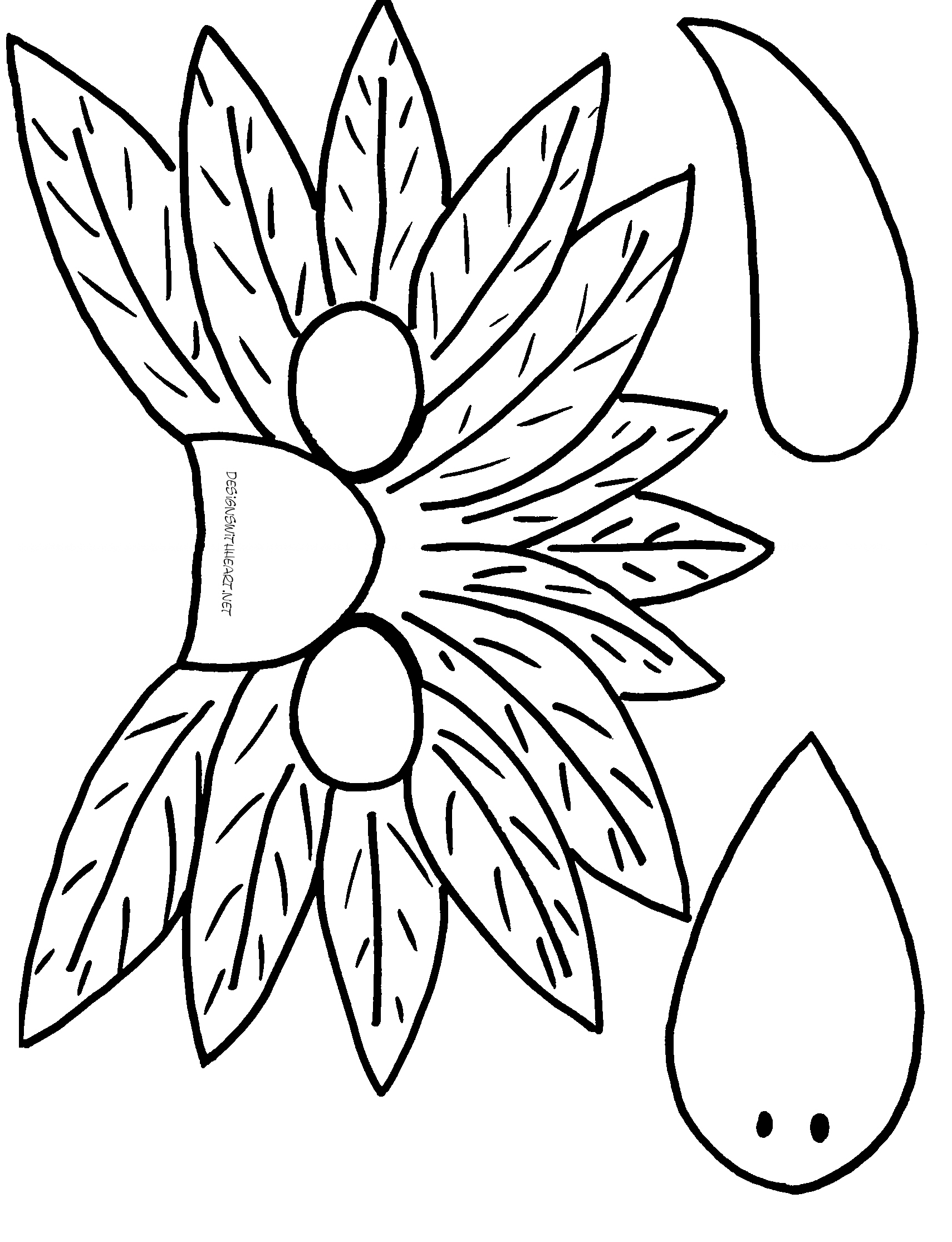 Flower Drawing Template at GetDrawings.com | Free for personal use ...