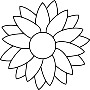 Flower drawing template at getdrawings free for personal use 298x297 sun flower template clip art mightylinksfo