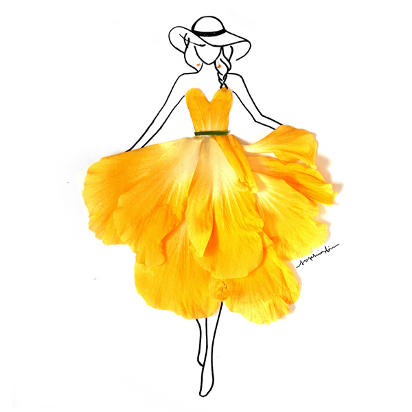 Flower Dress Drawing At Getdrawings Com Free For