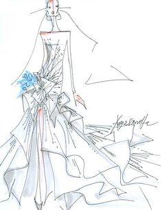 236x306 Savannah Guthrie's Wedding Dress Designer Sketches Wedding