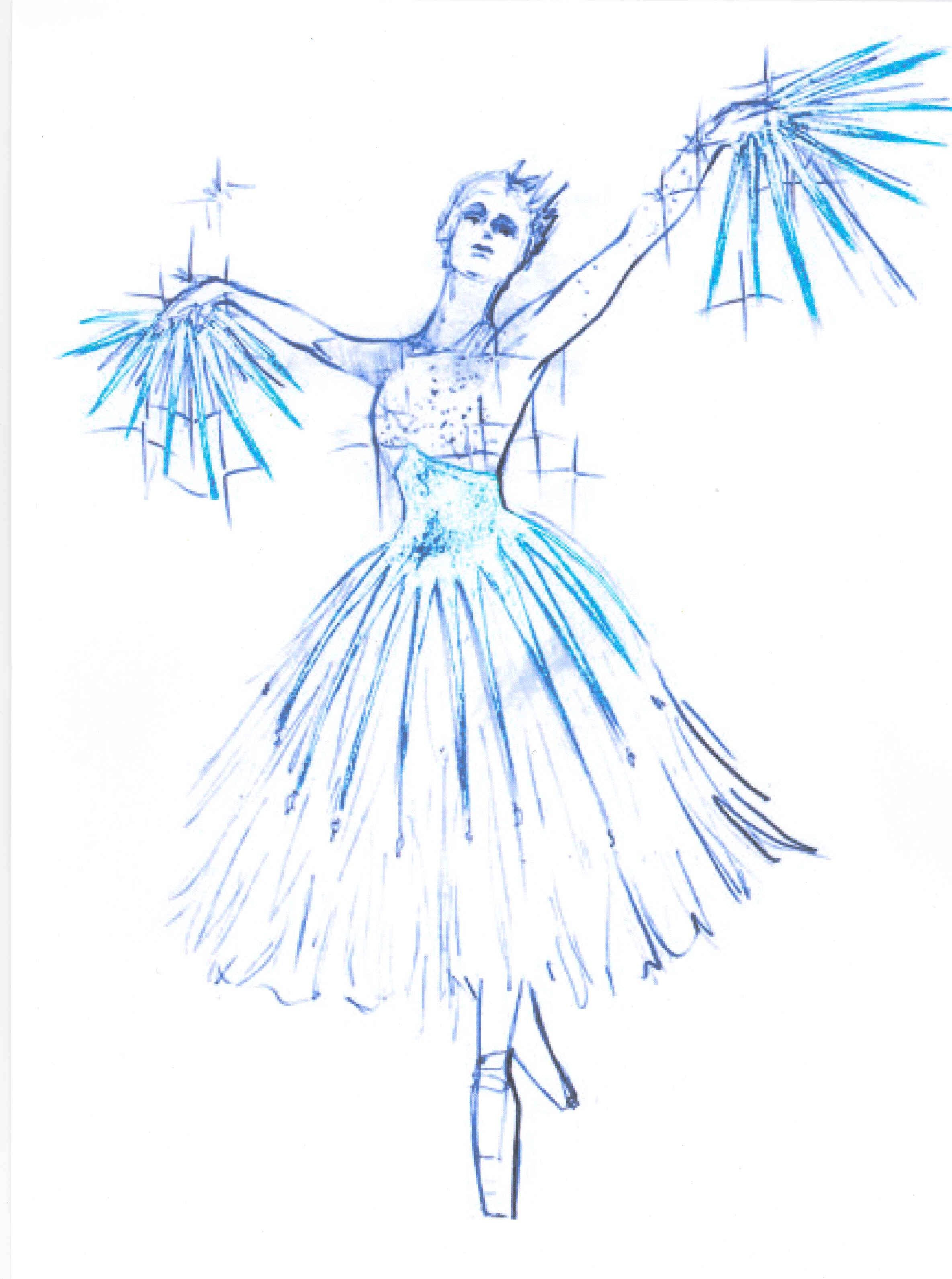 2369x3179 Snow Costume Sketch Nutcracker Sketches, Snow