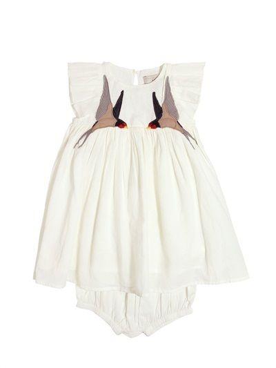 400x533 Sparrow Organic Cotton Muslin Dress Set Baby Clothes