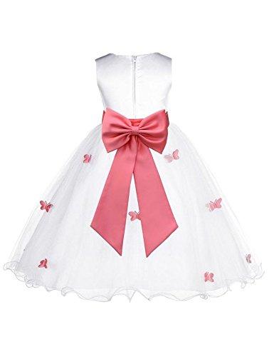 392x500 Butterflies Tulle Flower Girl Dress Pageant Wedding