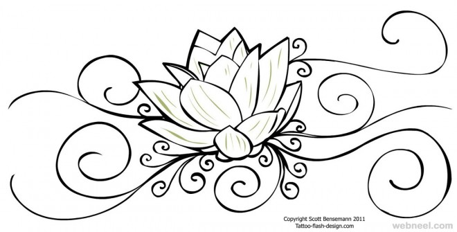 660x335 Flower Drawing Lotus 25